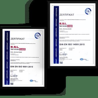 RDL services iso zertifiziert